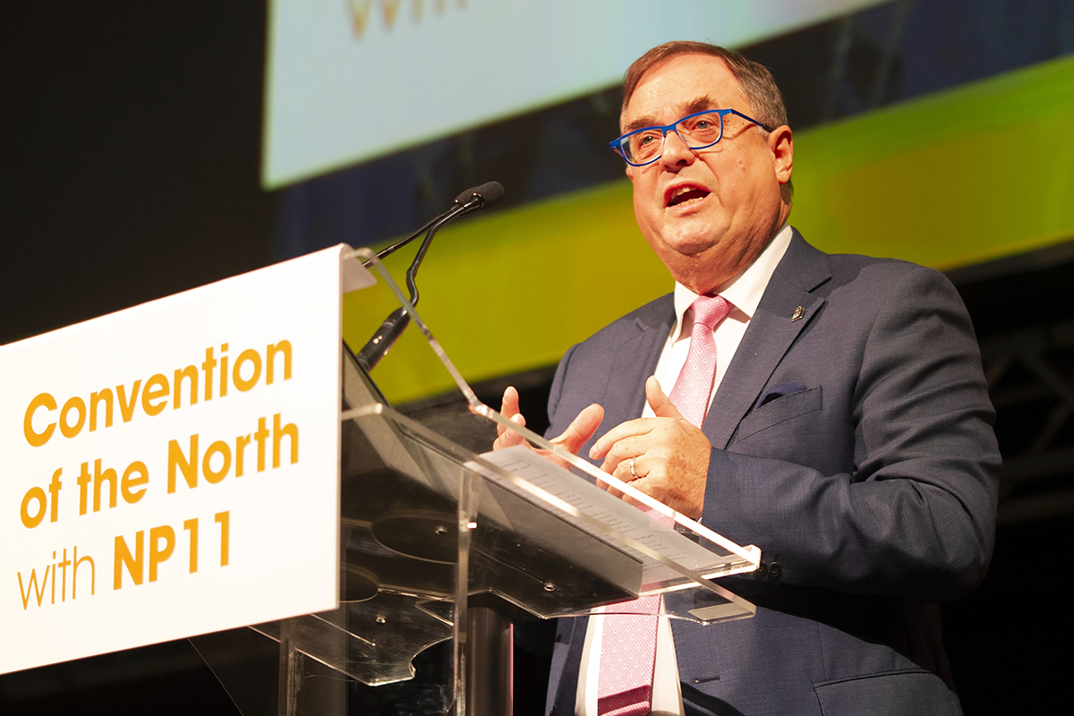 Roger Marsh speaks at The Convention of the North with NP11