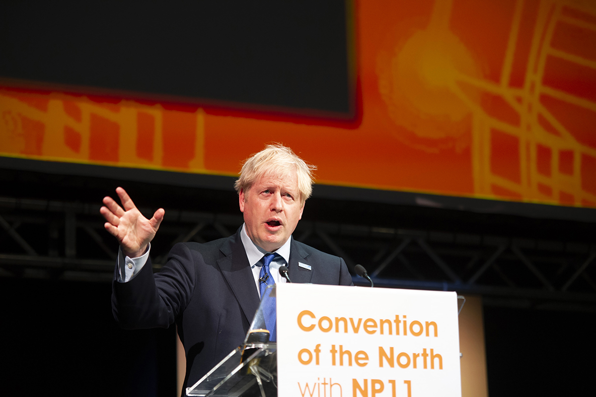 Boris Johnson speaks at The Convention of the North with NP11