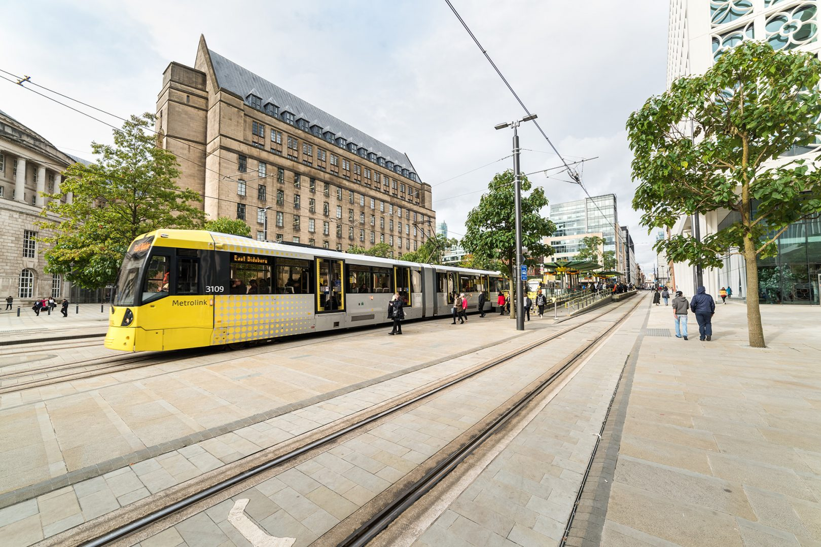 Tram in St Peter's Square, Manchester